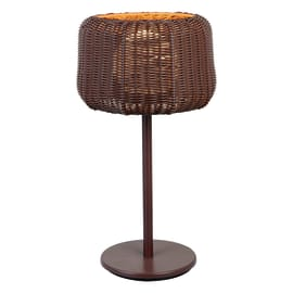 Lampioncino Babilo H56cm in policarbonato, cioccolato, E27 1xMAX25W IP44