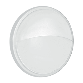 Plafoniera EVER-LP BCO LED integrato in policarbonato, antracite e bianco, 20W 1600LM IP65