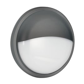 Plafoniera EVER-XLP ANT LED integrato in policarbonato, nero, 30W 2300LM IP65