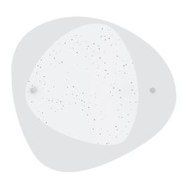 Plafoniera Fade bianco, in vetro, diam. 45, LED integrato 18W 1800LM IP20 LUMICOM