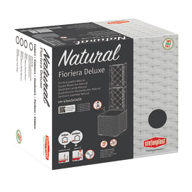 Fioriera con grigliato Natural Deluxe STEFANPLAST in plastica H 142 cm, L 43 x P 43 cm