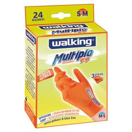 Guanti in nitrile WALKING 9 / L arancio, 24 pezzi