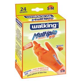 Guanti in nitrile WALKING 8 / M arancio, 24 pezzi