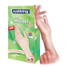 Guanti in vinile WALKING Klean 7 / S , 100 pezzi