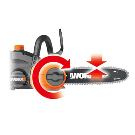 Motosega a batteria WORX 20V/2Ah LITHIO - VELOCITA LAMA 3.7m/s