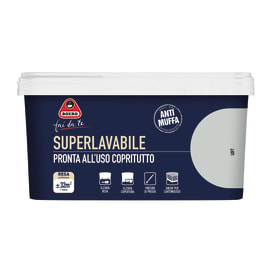 Pittura murale  antimuffa Superlavabile BOERO 2.5 L loft