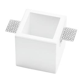 Faretto da incasso quadrato Olympia in gesso, bianco, 9.5xGU10 MAX40W IP20 TECNICO 1 pezzi