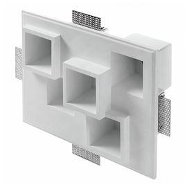 Faretto da incasso rettangolo Heraea in gesso, bianco, 13xGU10 5xMAX40W IP20 TECNICO 5 pezzi