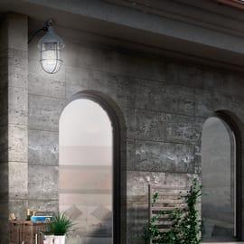 Applique per giardino Utsira in metallo, nero, E27 MAX60W IP44 BRILLIANT