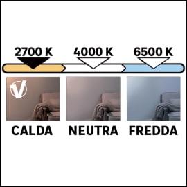Lampadina LED GU10 riflettore bianco caldo 6W = 450LM (equiv 50W) 100° LEXMAN