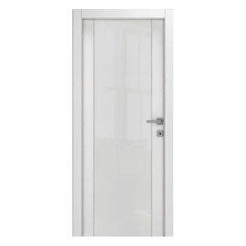 Porta a battente Kent frassino bianco L 60 x H 210 cm reversibile
