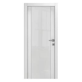 Porta a battente Kent frassino bianco L 80 x H 210 cm reversibile