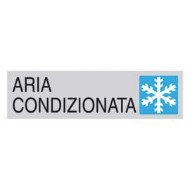 Cartello segnaletico Aria condizionata polipropilene 15 x 4 cm