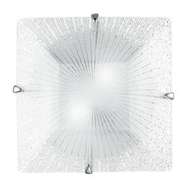 Plafoniera Iside trasparente, in vetro, 40x40 cm, E27 3xMAX60W IP20