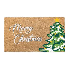 Zerbino Merry Christmas in cocco beige 40x70 cm