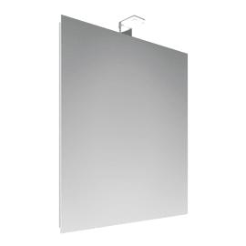 Specchio con faretto bagno rettangolare Entry L 70 x H 50 cm
