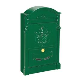 Cassetta postale formato Rivista, verde ral 6005, L 26 x P 9 x H 41 cm
