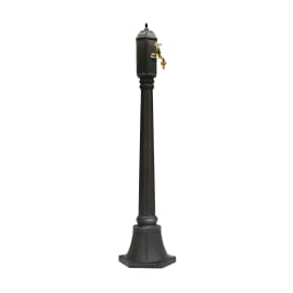 Fontana a colonna Gina in alluminio H 91 cm, 24 x 24 cm