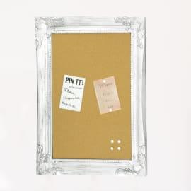 Bacheca in sughero England style bianco 40x55 cm
