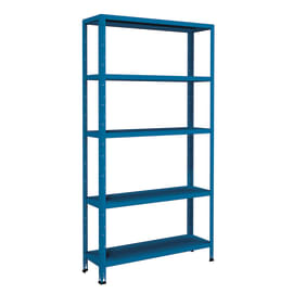 Scaffale in metallo in kit Crosser L 100 x P 30 x H 188 cm blu