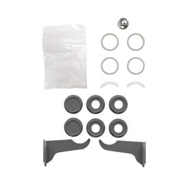 Kit tappi e staffe per radiatori Modern in acciaio 23 mm