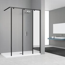 Doccia walk in ELISEO L 140, H 200 cm, vetro 8 mm mirror and transparent cromato