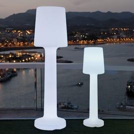 Lampada da terra Carmen H110cm, in plastica, luce colori cangianti, LED integrato IP65