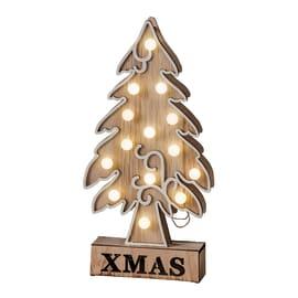 Albero di Natale XMAS in legno , L 14 cm  x P 5 cm