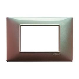 Placca VIMAR Plana 3 moduli marrone micalizzato