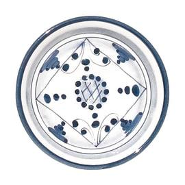 Porta sapone Ceramica dec.tribu' blu' antico indaco