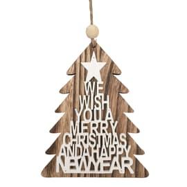 Figura natalizia marrone L 15 x H 12 cm