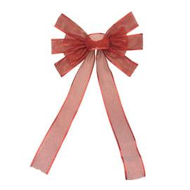 Fiocco in tessuto a maglia rosso , L 30 cm x P 1 cm