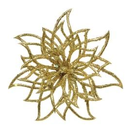 Fiore in plastica oro Ø 14 cm