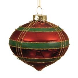 Sfera natalizia in vetro Ø 8 cm confezione da 2 pezzi