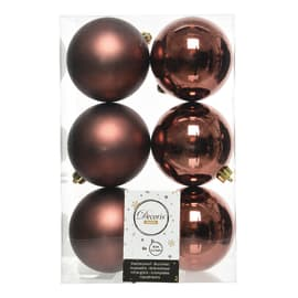 Sfera natalizia in plastica Ø 8 cm confezione da 6 pezzi
