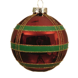 Sfera natalizia in vetro Ø 8 cm confezione da 3 pezzi