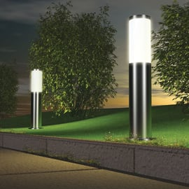 Palo della luce Chorus H50cm in alluminio, inox, E27 1xMAX20W IP44 BRILLIANT