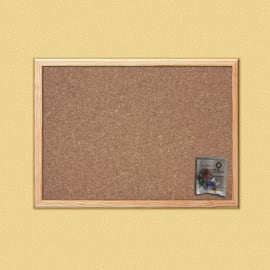 Bacheca in sughero Cornice  naturale 60x45 cm