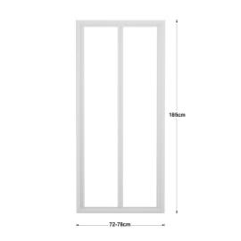 Porta doccia pieghevole Elba 80 cm, H 185 cm in vetro temprato, spessore 3 mm serigrafato e brinato bianco
