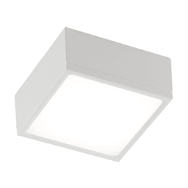 Plafoniera Klio bianco, in metallo, 40x40 cm, LED integrato 60W IP20