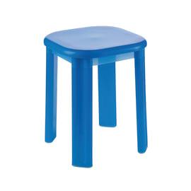 Sgabello Eos in plastica blu semitrasparente