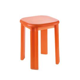 Sgabello Eos in plastica arancio semitrasparente
