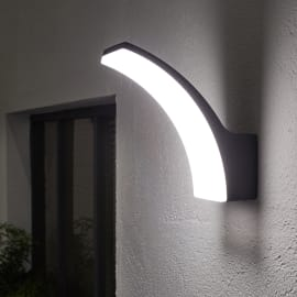 Applique Lakko LED integrato in alluminio, grigio, 11W 1200LM IP44 INSPIRE