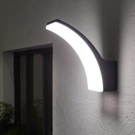 Applique Lakko LED integrato in alluminio, grigio, 11W 1200LM IP44 INSPIRE