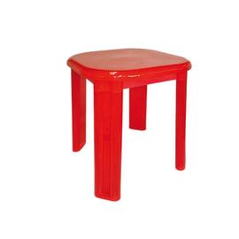 Sgabello Eos in plastica rosso semitrasparente