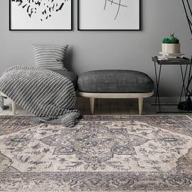 Tappeto Ohio grigio 160x230 cm