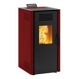 Stufa a pellet ventilata Vieste 7.3 kW bordeaux