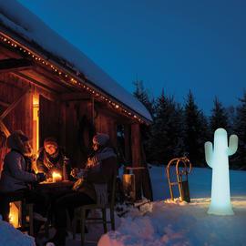 Lampada da esterno Pancho H139cm, in plastica, luce colori cangianti, LED integrato IP65