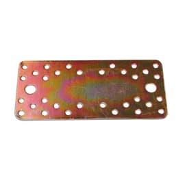 Piastra dritta standers acciaio zincato L 200 x Sp 3 x H 90 mm