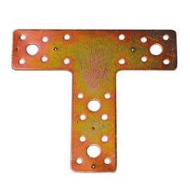 Piastra a t standers acciaio zincato L 135 x Sp 2.5 x H 150 mm  10 pezzi